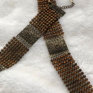 Beautiful antique chain-mail choker / bracelet SET